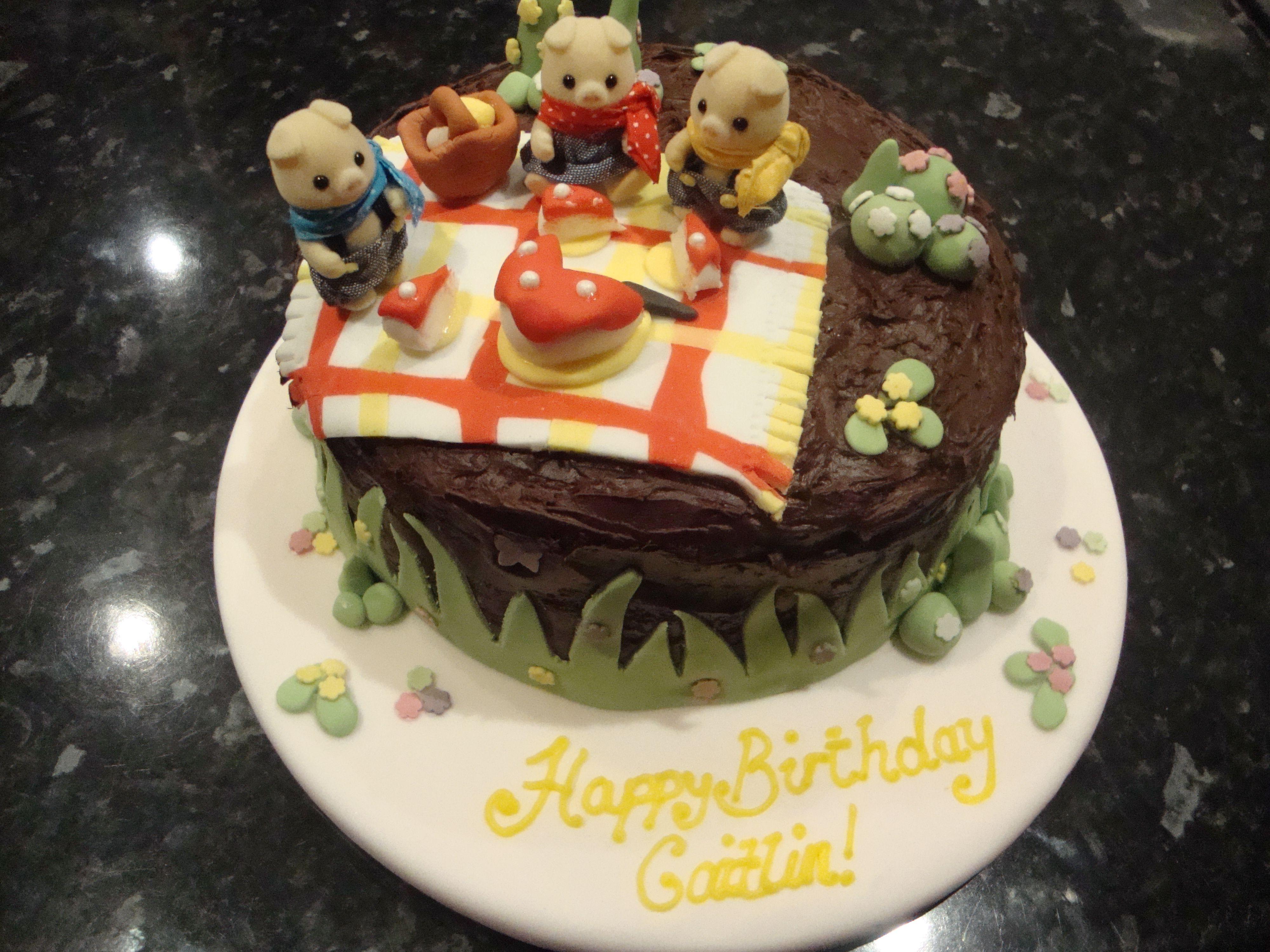 Cake Decorating Figures : sylvanian families picnic - sylvanian family picnic 1st ...