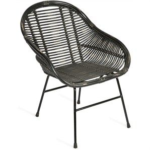 Macon Solid Cane Rattan Accent Lounge Chair Cheap Outdoor Chairs