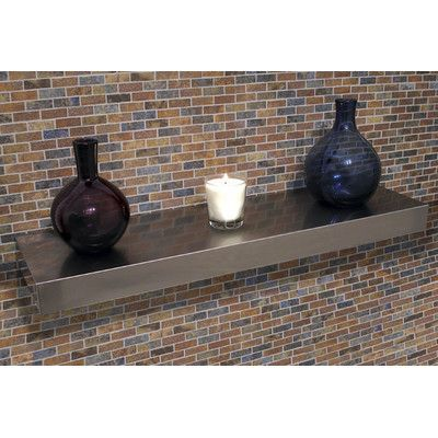 """A-Line by Advance Tabco Floating Wall Shelf Size: 2.5"""" H x 42"""" W x 10"""" D"""