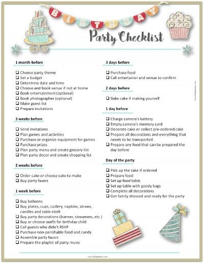 party planning template party