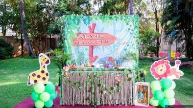 Jungle theme decoration Theme Birthday Decorations in Hyderabad