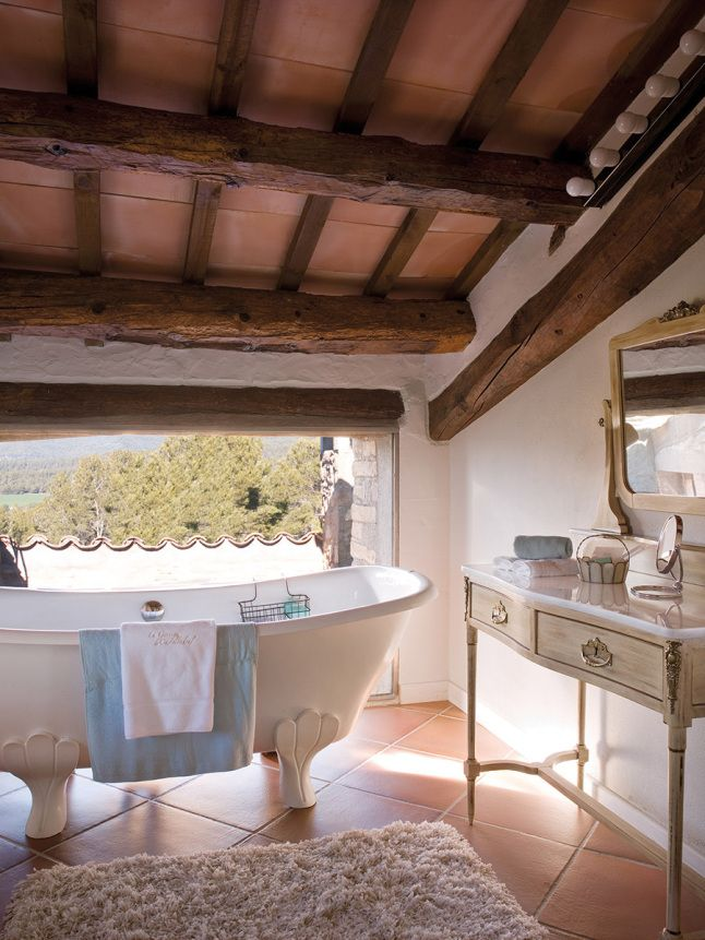 La Garriga, a small hotel of 14 guest rooms in the countryside #attic #bathroom