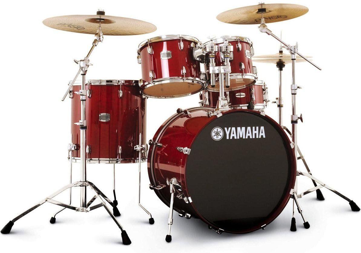 Yamaha Stage Custom Birch Drum Set Cranberry Red Drums Yamaha Stage Custom Drum Set