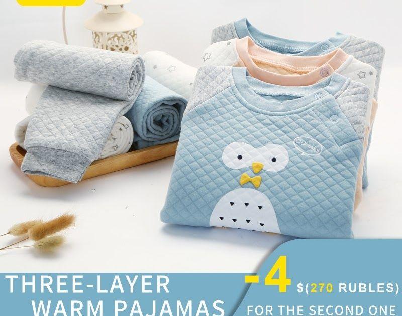 f1a18cd98435 Hot Offer Thermal Underwear Baby Girl Winter Boy Kids Boys Girls ...