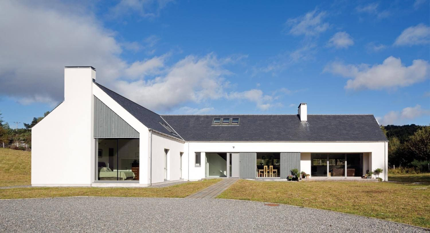Nice Lshaped Passvhaus in the Scottish Highlands Modern