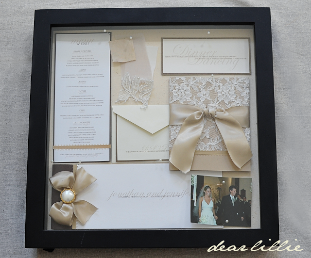 Amazing Our Wedding Invitation, Program, And Menu   Box Frame, Lovely Way To Kept