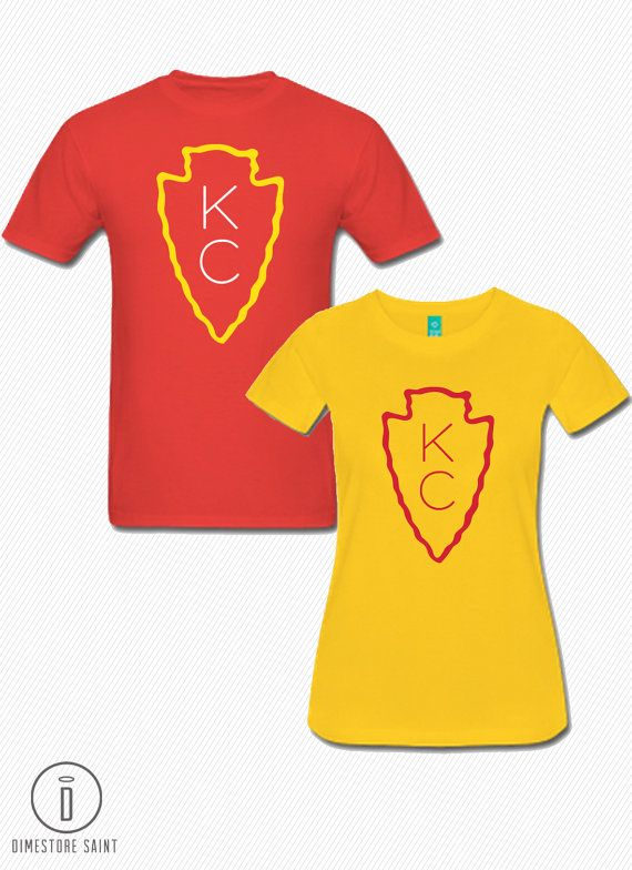 94c2f56d KC Chiefs Arrowhead T Shirt Men's and by DimestoreSaintDesign ...
