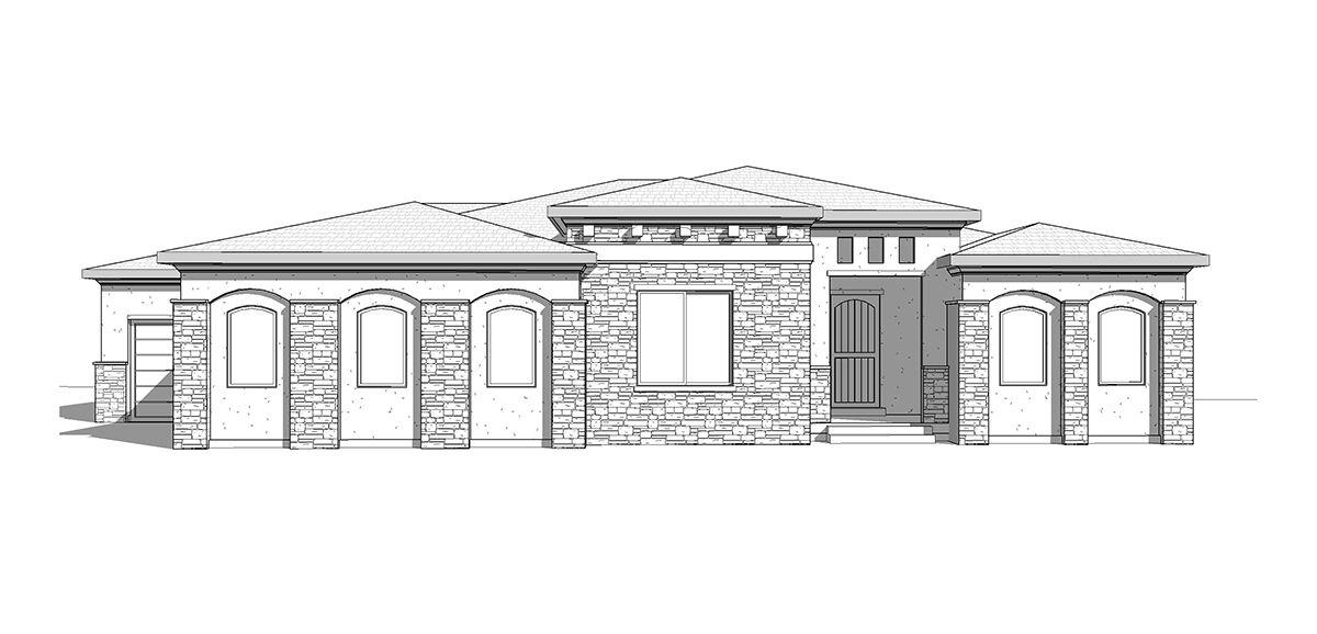 Biscayne   A Mediterranean Style Rambler House Plan   Walker Home Design