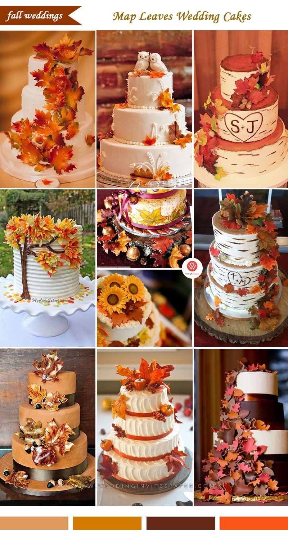 65 Awesome Fall Wedding Cake Ideas Wedding Cake With Colorful