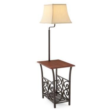 Jcpenney Home Magazine Rack Side Table With Lamp End Table With Lamp House And Home Magazine Lamp
