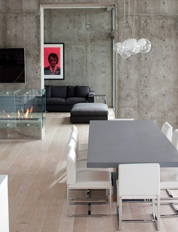 Modern is an awesome look Interior Design Pinterest Interiors - table de salle a manger grise
