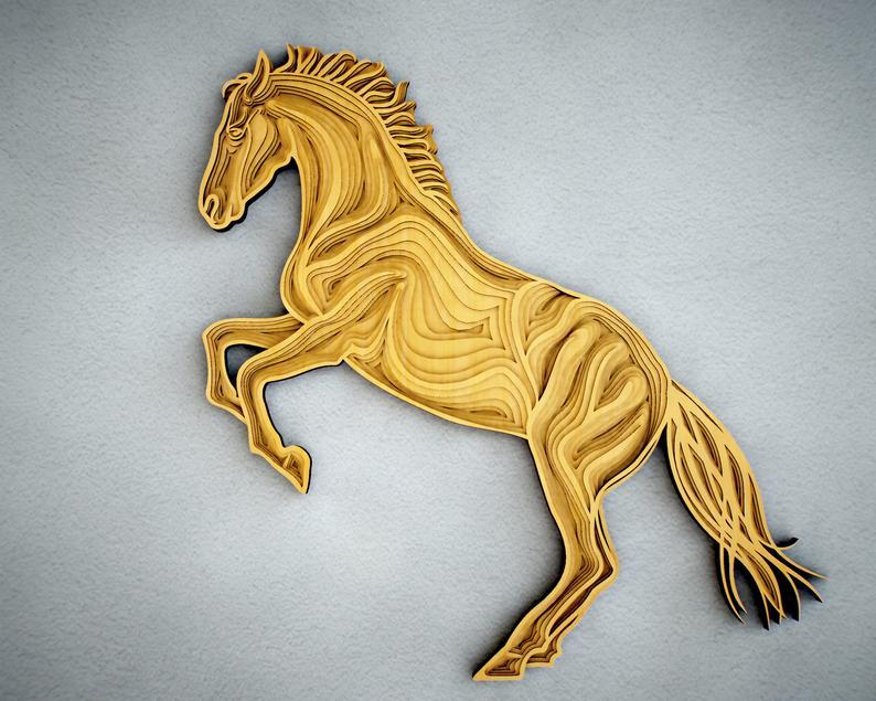 Horse 3d Mandala Svg Files Animal Mandala Files For Laser Etsy In 2021 Mandala Svg Horse Template Mandala
