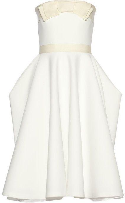 Grosgrain-trimmed piqué dress on shopstyle.com