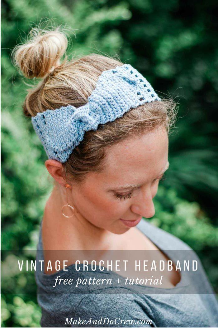 Free Summer Crochet Headband Pattern for Women - Easy! | Pinterest