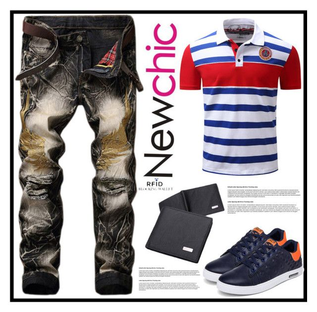 """""""Newchic5"""" by merisa-imsirovic ❤ liked on Polyvore featuring men's fashion and menswear"""