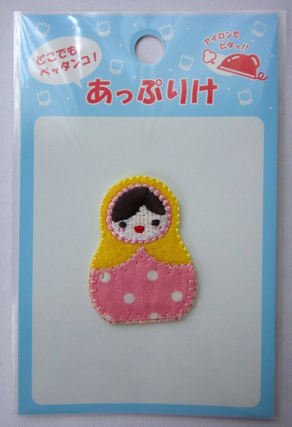 Iron on Wooden Nesting Doll Matryoshka Applique Embroidered Patch