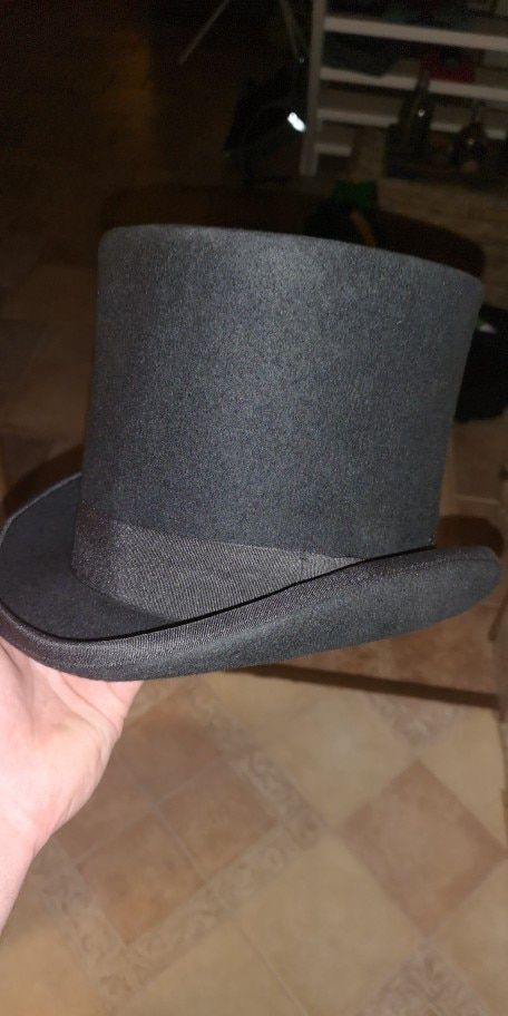 bb2409b85 England Style Men Top Hat 100%Wool Fedoras Mad Hatter Top Hats ...