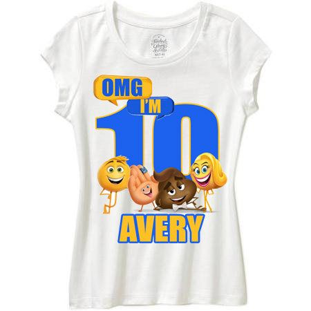 Emoji Movie Omg Birthday Shirt Any Age Boy Or Girl