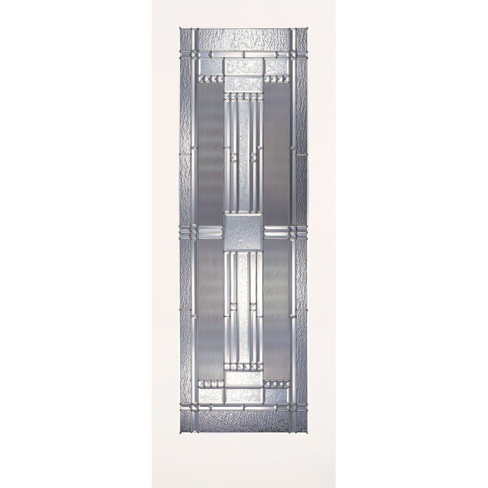 Feather River Doors 24 In X 80 1 Lite Preston Zinc Smooth Primed Mdf Interior Door Slab Primeadvantage Ready To Paint