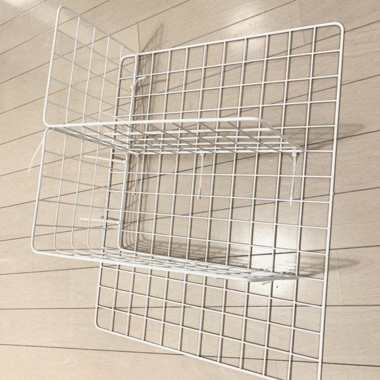 洗濯機横にワイヤーネットラックをdiy 壁活用で狭くてもokな隙間収納 2020 ワイヤーネット 洗濯機 収納 Diy