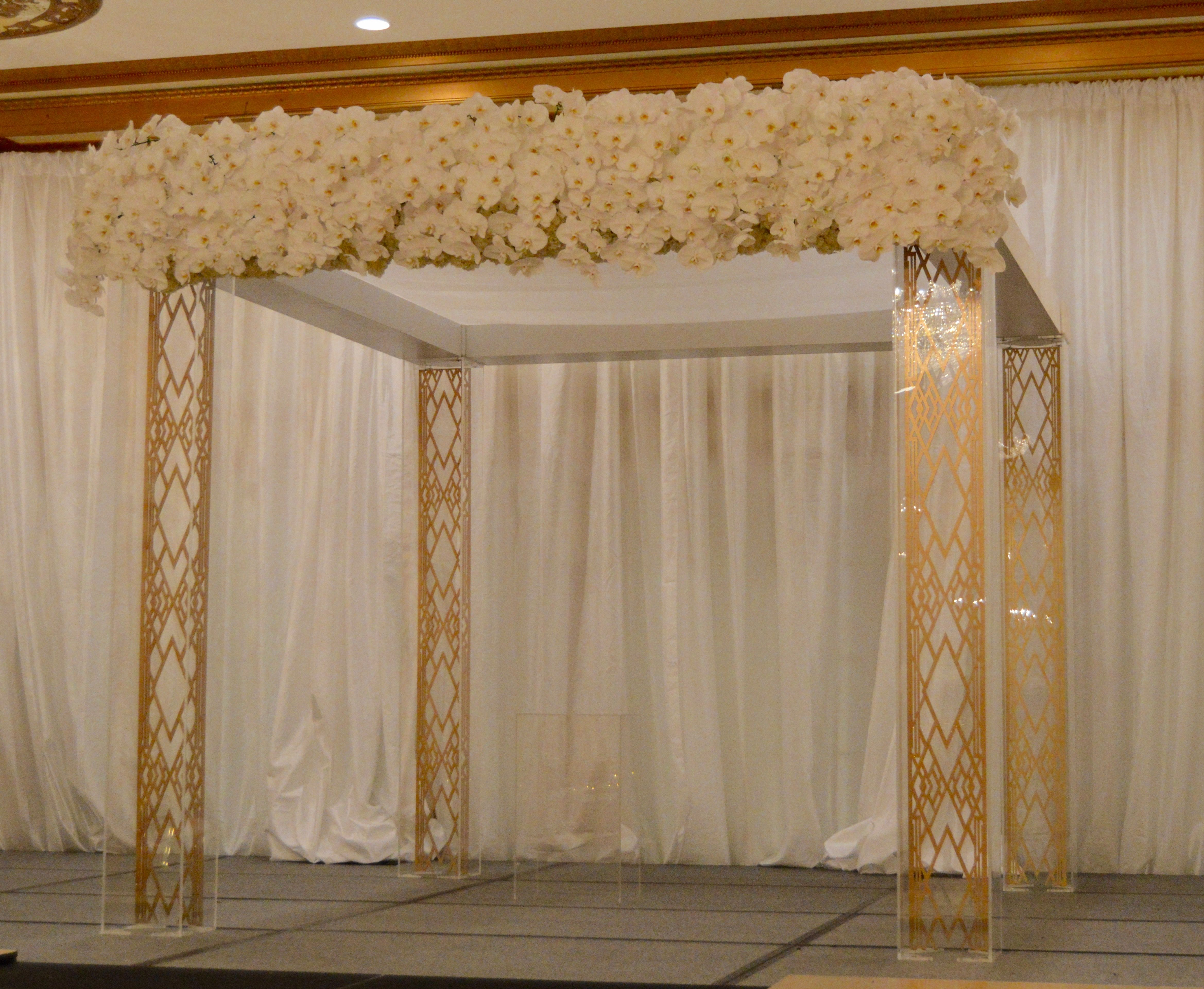 Let us customize your wedding altar! Create a one of a kind experience with our design team!