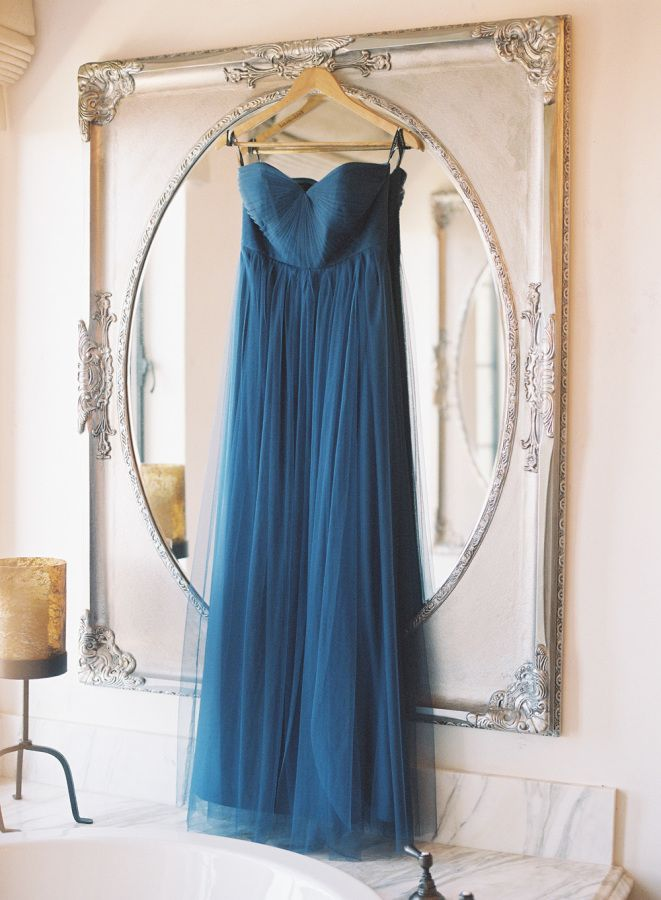 Shades of blue bridesmaid dress