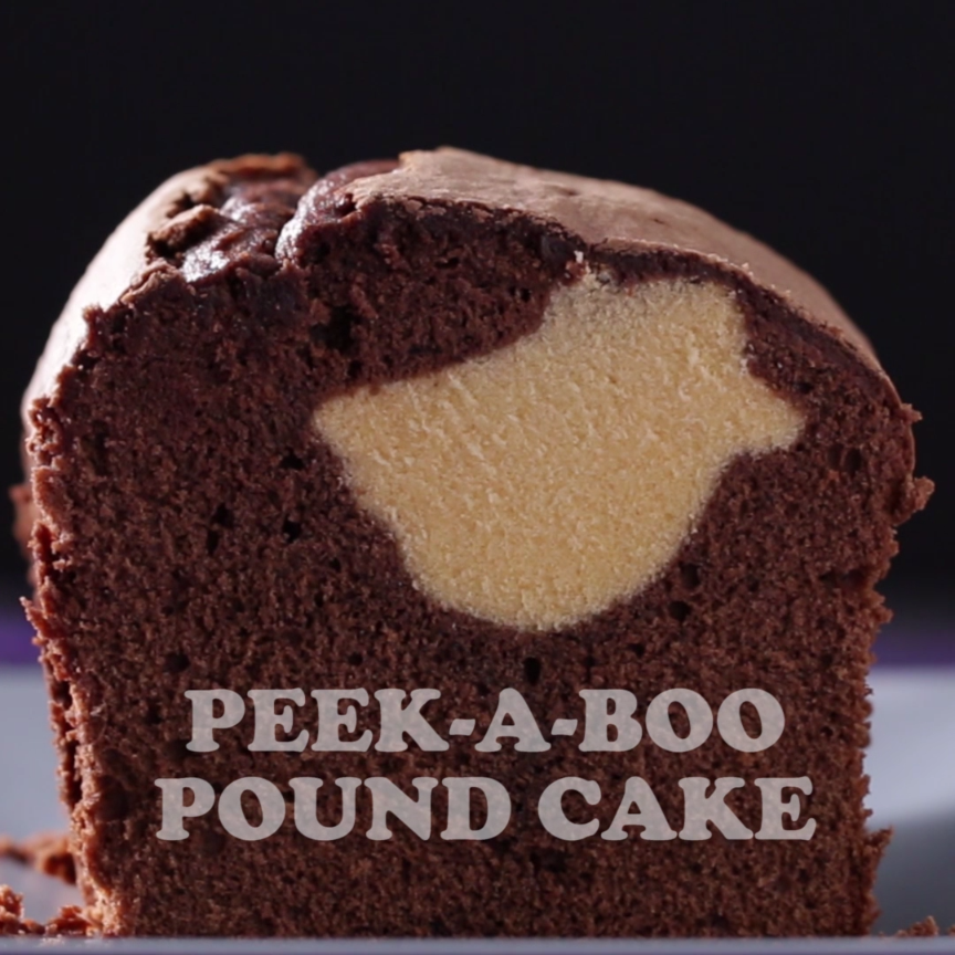 Peek-a-boo Ghost 'Boxed' Pound Cake Recipe by Tast
