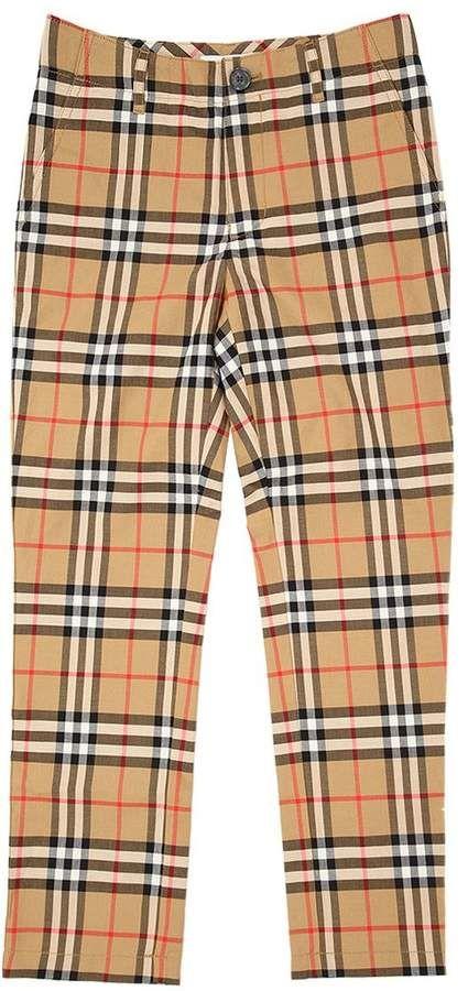 e047f7706039 Burberry Check Cotton Chino Pants