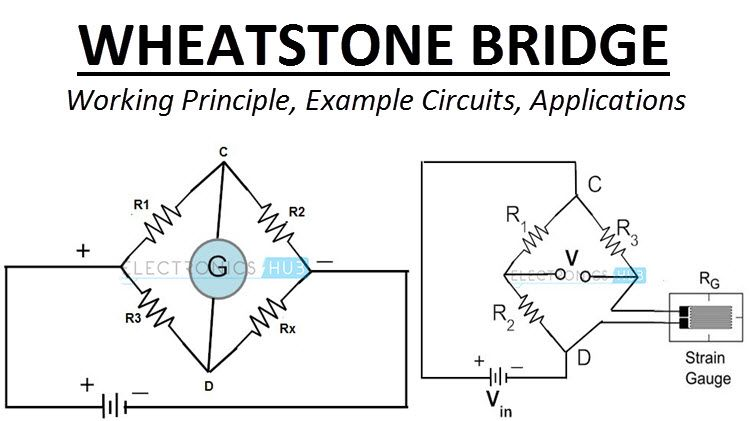 Wheatstone Bridge Circuit Theory Example And Applications Wheatstone Bridge Circuit Theory Physics And Mathematics