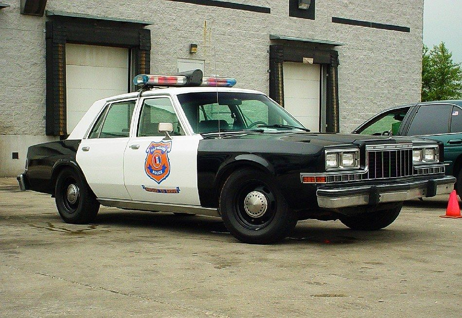 Dodge Diplomat Police Cruiser Old Police Cars Police Cars Emergency Vehicles