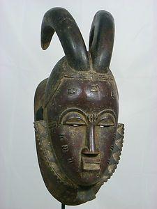 Superb African Tribal Mask BAULE KPAN Mask African Art Collectible