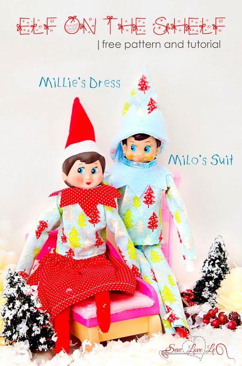 Sewlovele: Elf on the Shelf Clothes | Elf Ideas | Pinterest