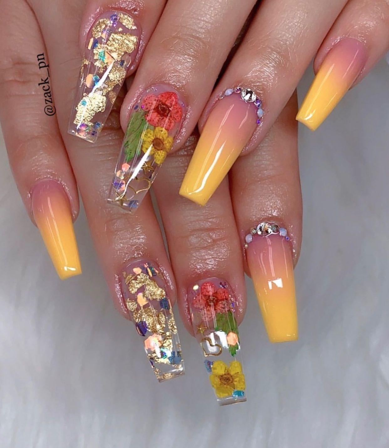 Nailart Naildesigns Nails Nailideas Nailsart Floral Nails Pretty Acrylic Nails Fabulous Nails