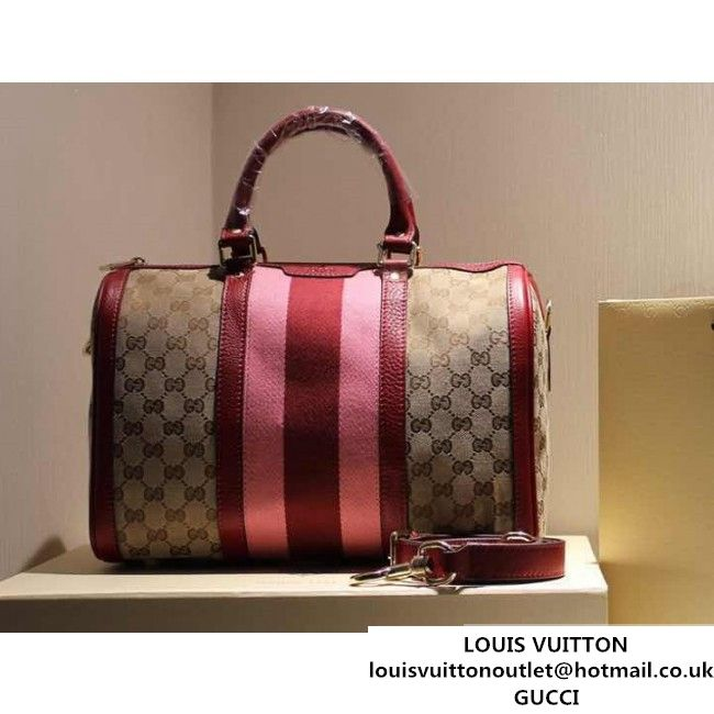 gucci 247205 vintage web orginal gg canvas boston bag red 2015 (spmgucci 247205 vintage web orginal gg canvas boston bag red 2015 (spm 062621 )