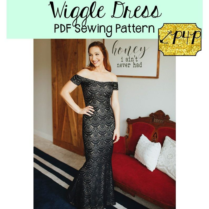 Wiggle Dress Wiggle Dress Pattern Wiggle Dress Tight Fitted