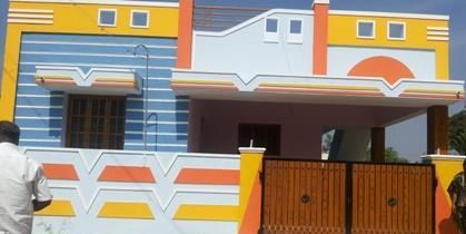 Coimbatore House Front Wall Design Village House Design Single Floor House Design