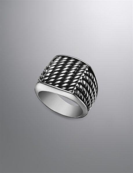 Maritime Ring, 19mm | Men Rings | David Yurman Official Store