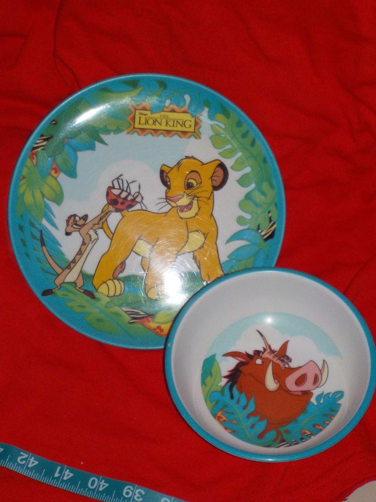 The Lion King Plastic Childrens Plate Bowl Zak Disney Simba Timon Vintage Lion King Timon Plates