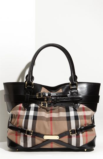 7b174a6bda84 Burberry  House Check  Tote available at  Nordstrom. I have never felt this  way about a purse before. I m in love!!!