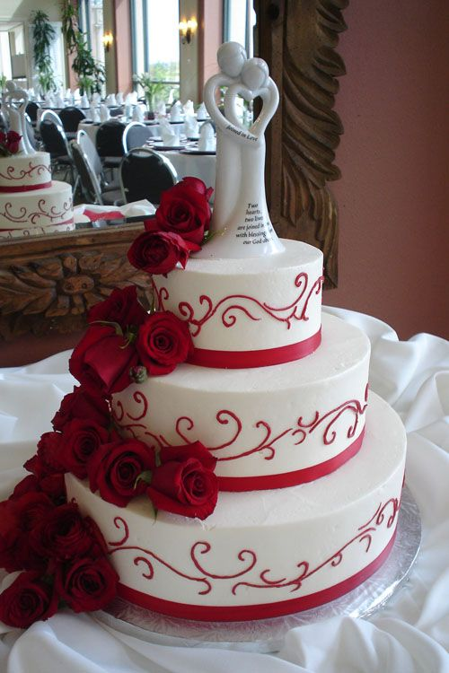 Wedding Cake Designs Red And White : small black and red wedding cakes - Google Search Chuck ...
