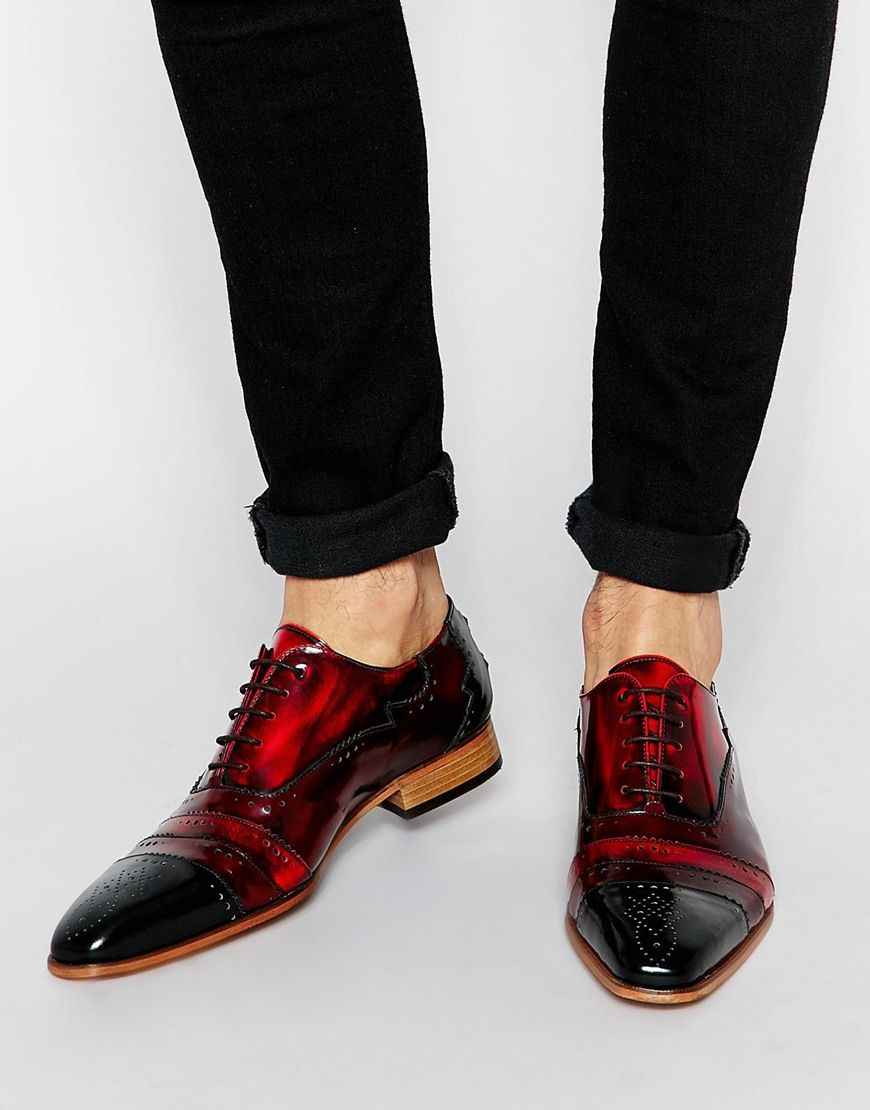 Jeffery West Leather Brogue Shoes Leather Brogues Kicks