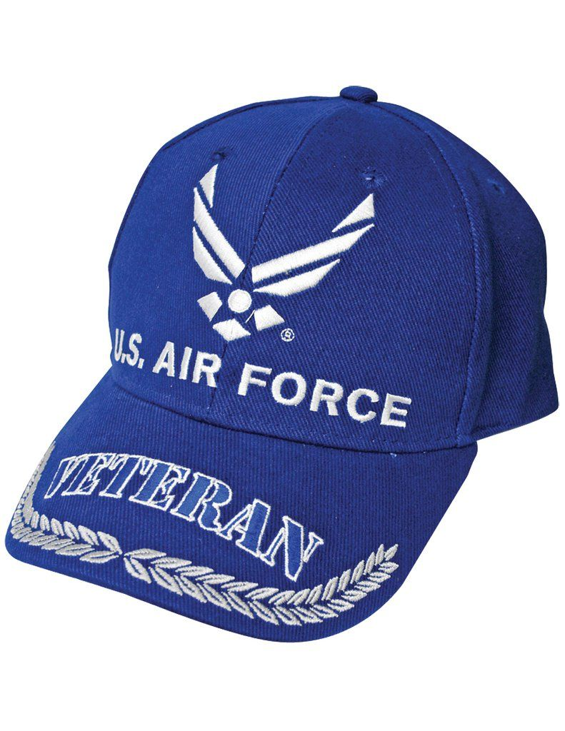 Us Air Force Symbol Veteran Cap 100 Cotton W Embroidered Branch