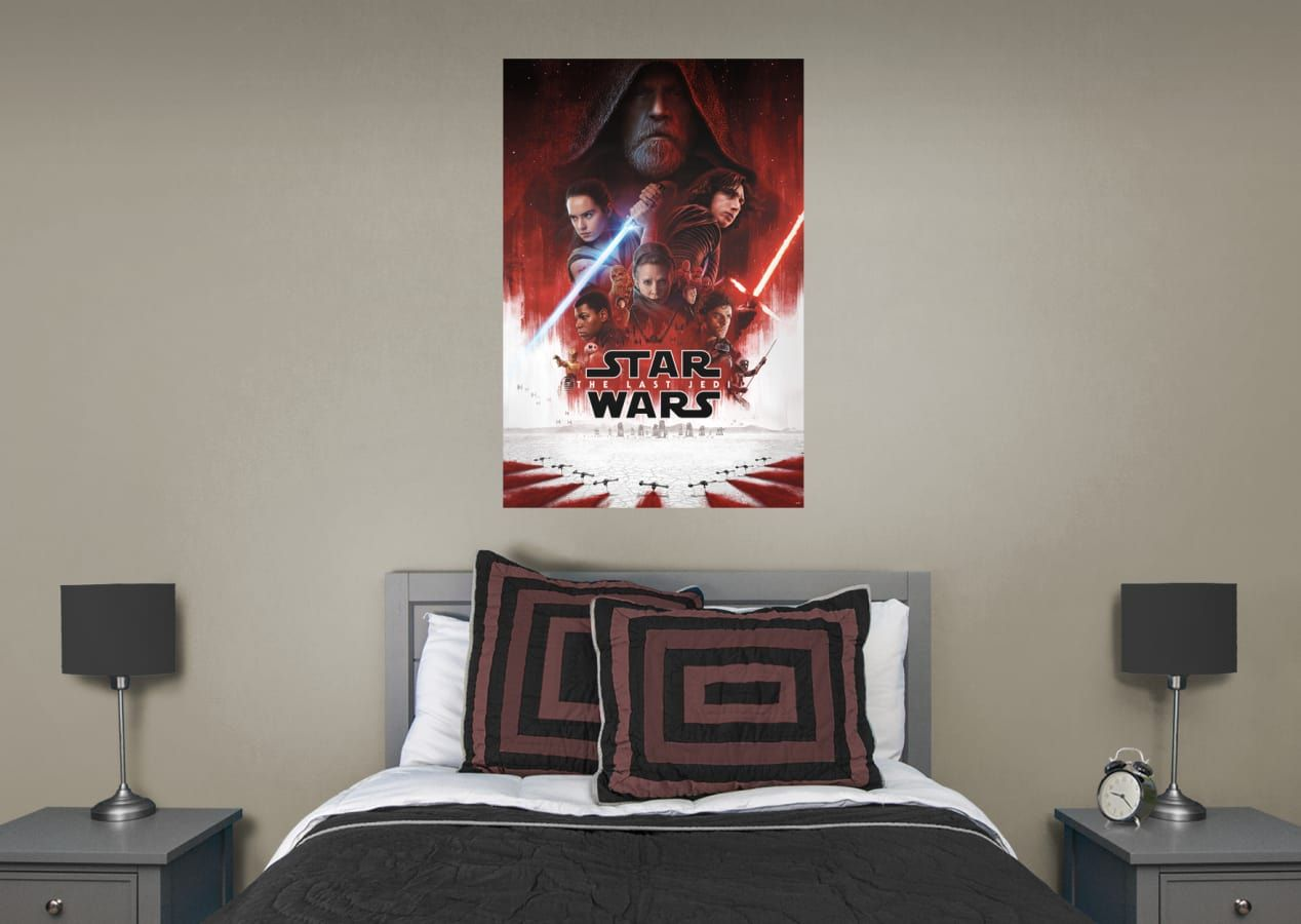 Star Wars Bedroom Ideas Last Jedi Theatrical Poster Star Wars