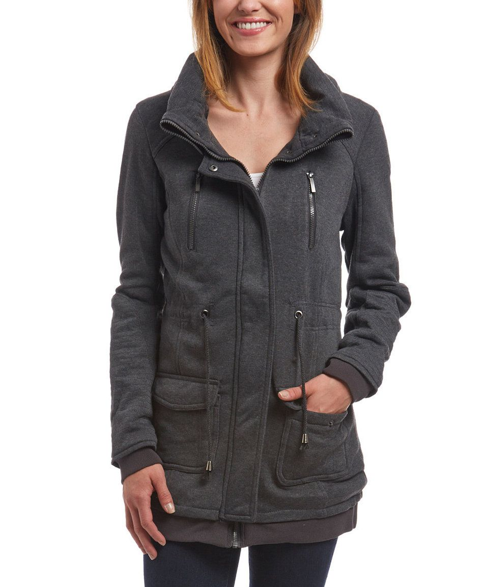 Take a look at this yoki charcoal knit anorak plus today my