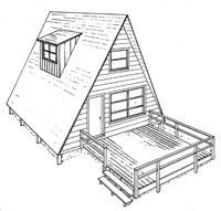 3 Free Plans A Frame House Plan With Deck Image A Frame House Plans A Frame Cabin Plans A Frame House