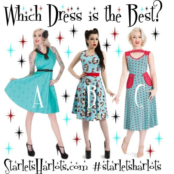 """""""Which Dress is the Best?"""" Get 20% OFF TODAY! VISIT OUR FACEBOOK PAGE FOR YOUR COUPON! https://www.facebook.com/starletsandharlets?ref=hl"""