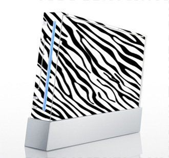 Zebra Print Skin For Nintendo Wii Console, 2015 Amazon Top Rated Faceplates, Protectors & Skins #VideoGames