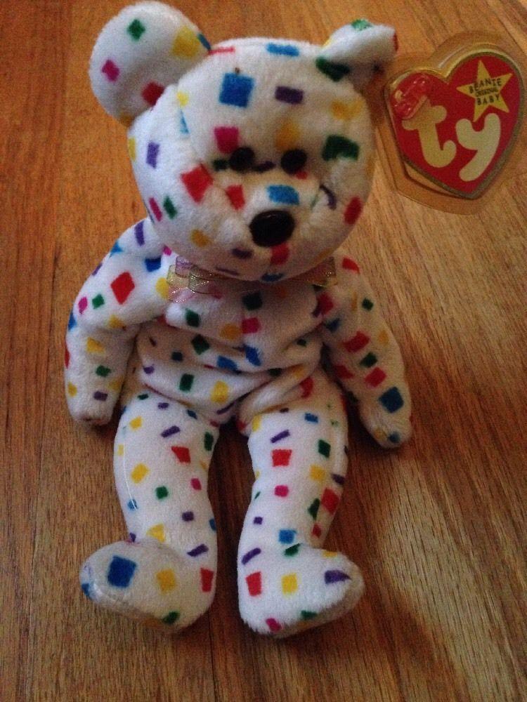 bc68afd3e42 1999 TY 2K Beanie Baby Bear Mint With flat tush tag Error - rare ...