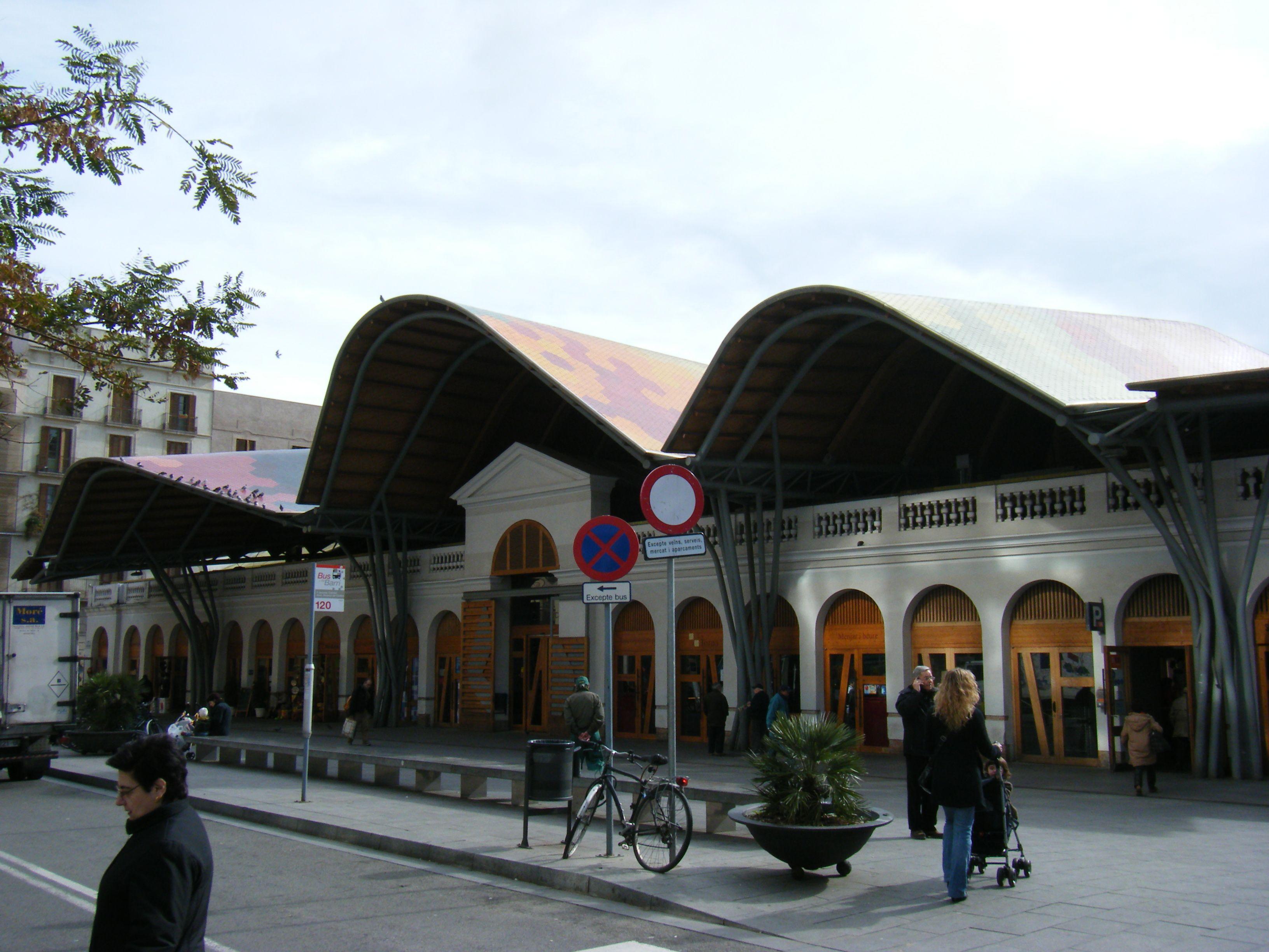 Mercado Santa Catarina - Enric Miralles, Benedetta Tagliabue. Barcelona