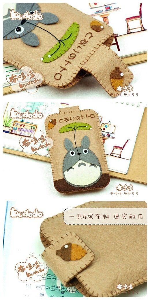 DIY CUTE Totoro Felt Case | Activites for Willa | Pinterest ...